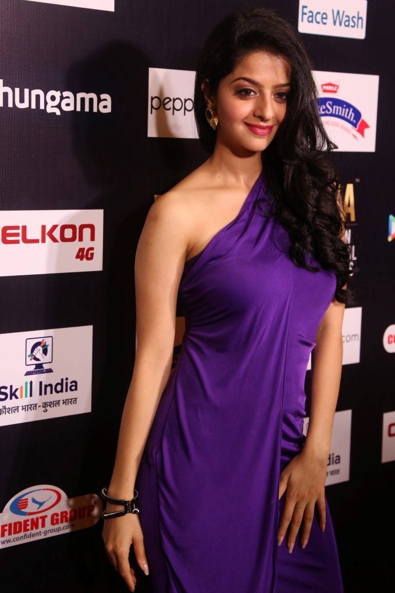 Vedika Hot Photos In Violet Dress