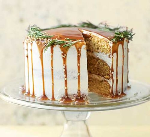 Easy Salted Caramel Pear Cake Recipe | World Food Cuisines