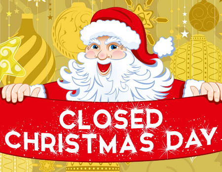 Candid image with free printable holiday closed signs
