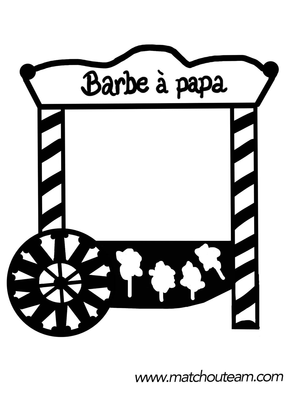 dessin à imprimer: Dessin Barbe A Papa A Imprimer