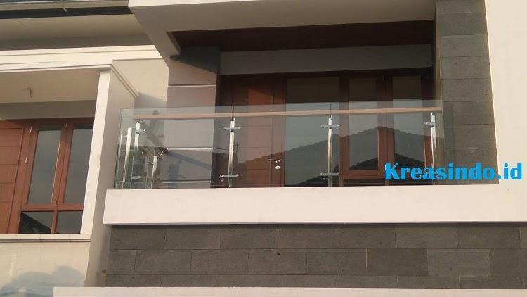 Railing Balkon Stainless Kaca Tempered Pesanan Pt Cibas Proyek