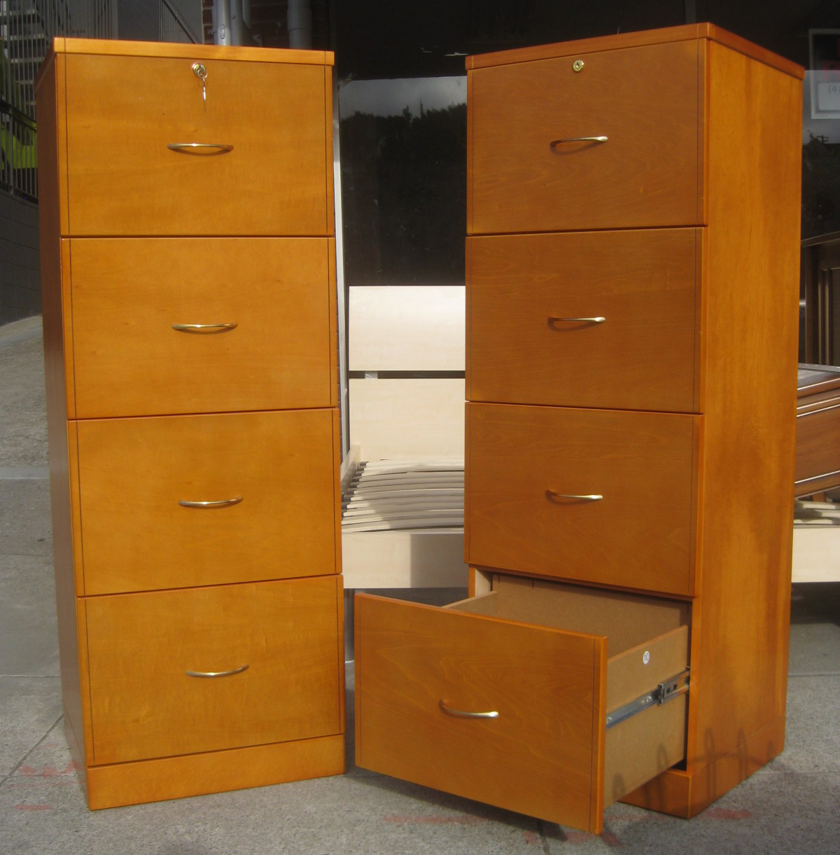 Uhuru Furniture Amp Collectibles Sold Tall Wooden File