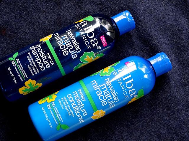 Alba Botanica's Hawaiian Marula Miracle Moisture Shampoo & Conditioner