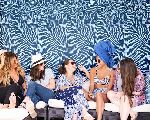 girls getaway weekend, w hotel los angeles, poolside hangout