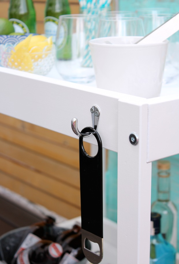 ikea hack bar cart do it yourself ideas and projects. Black Bedroom Furniture Sets. Home Design Ideas