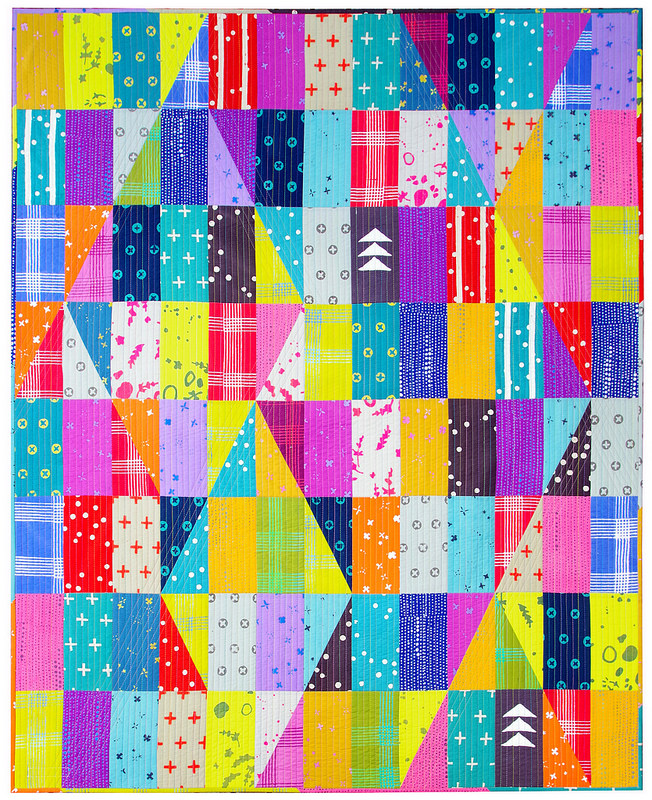 Handcrafted - Bright Like a Diamond Quilt | Finished Quilt | © Red Pepper Quilts 2017