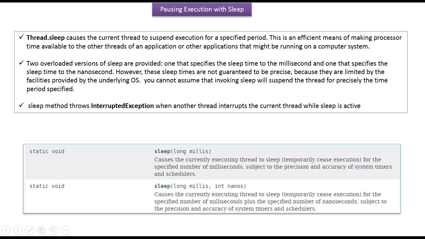 java ee java tutorial java threads thread sleep
