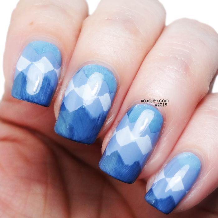 xoxoJen's swatch of Girly Bits Old, New, Borrowed, and  Blue