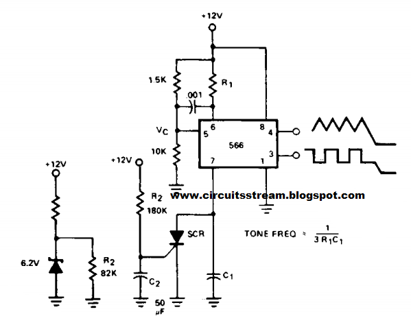 Build a Tone Burst Generator Circuit Diagram