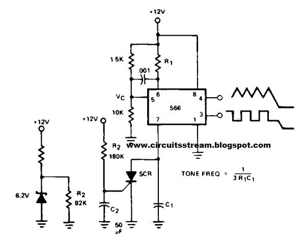 Build a Tone Burst Generator Circuit Diagram
