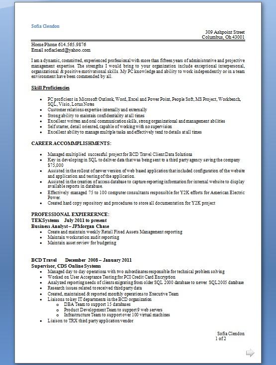 supervisor resume samples in word format free download