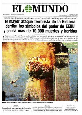 Resultado de imagen de PORTADA EL MUNDO 11-S