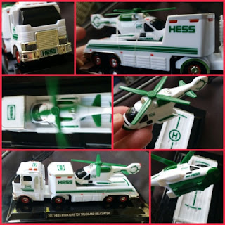 Hess Toy Truck and Helicopter mini  collage