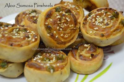Aloo Samosa Pinwheels