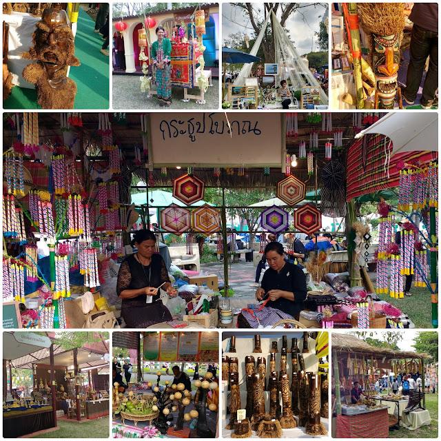 Vendinhas no Thailand Tourism Festival 2017, no Parque Lumpini, Bangkok.