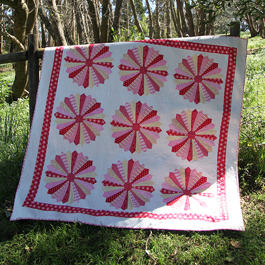 Folk Heart Dresden Quilt Free Pattern By Rosalie Quinlan for Lecien