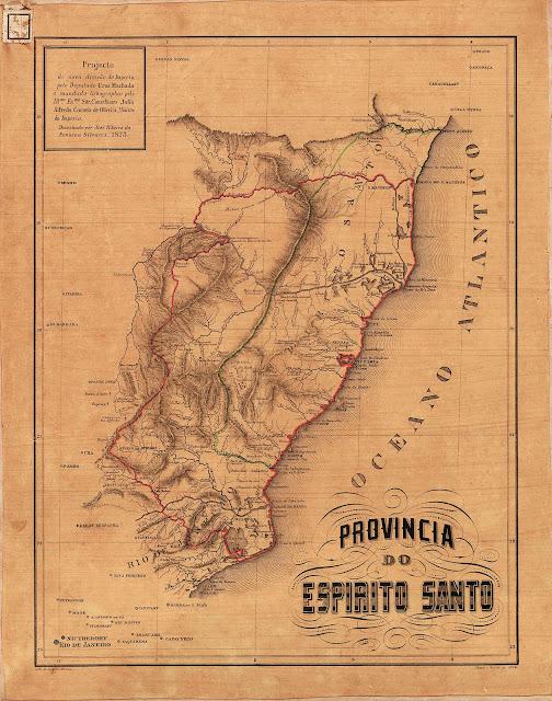 Projeto de nova divisão do Império, 1873. Acervo Biblioteca Digital Luso-Brasileira.