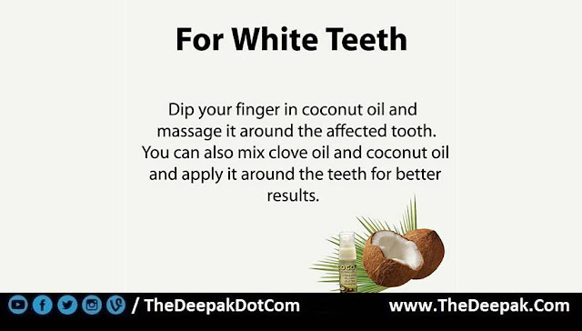 4 COCONUT OIL used for White Teeth