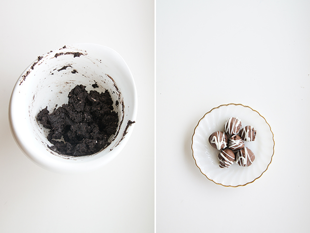 butter with a side of bread // oreo balls