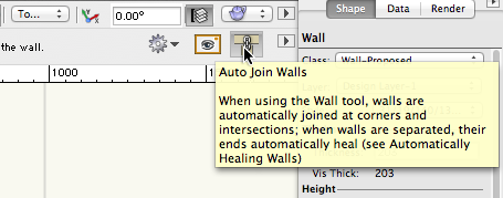 Vectorworks Auto-Join Walls preference