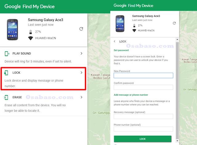Cara mengunci Hp Android yang hilang