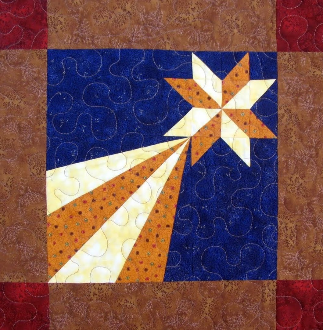 Starwood Quilter Shooting Star Quilt Block