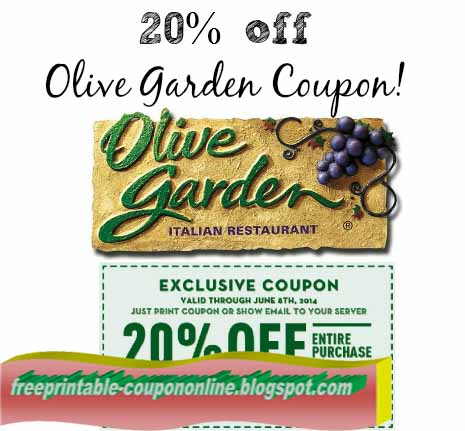 olive garden coupon to go