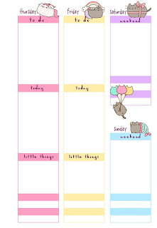 PB and J Studio: Free Printable Planner Inserts | Pusheen ...