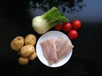 Venkel, kabeljauw, tomaat, aardappel