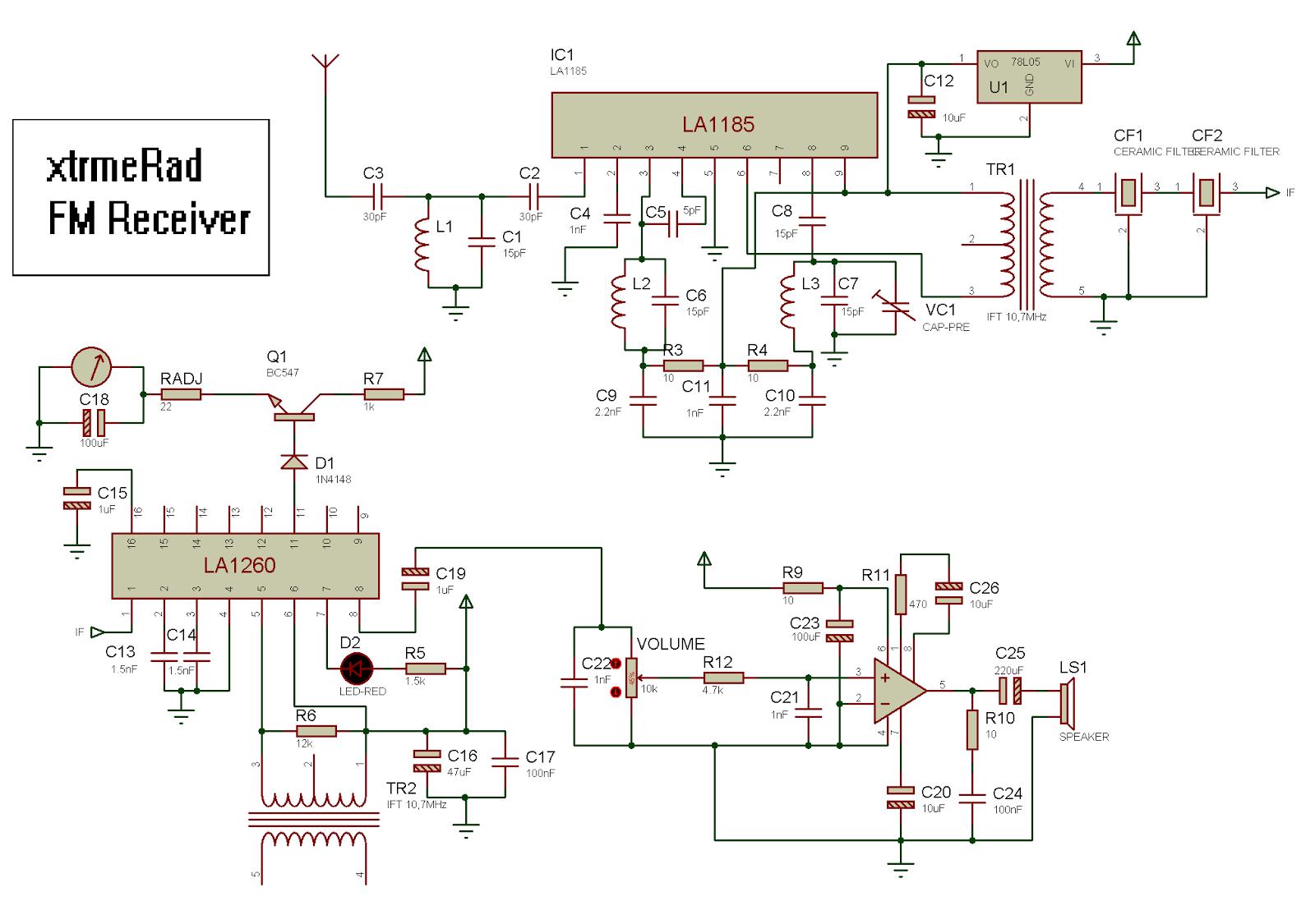 La1260 Fm If Mw Radio Receiver Schematic Circuit Diagram Wiring Dengan Tuner Pto Blok Xtrmerad