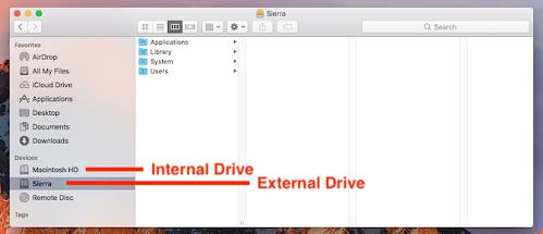 mengakses drive internal