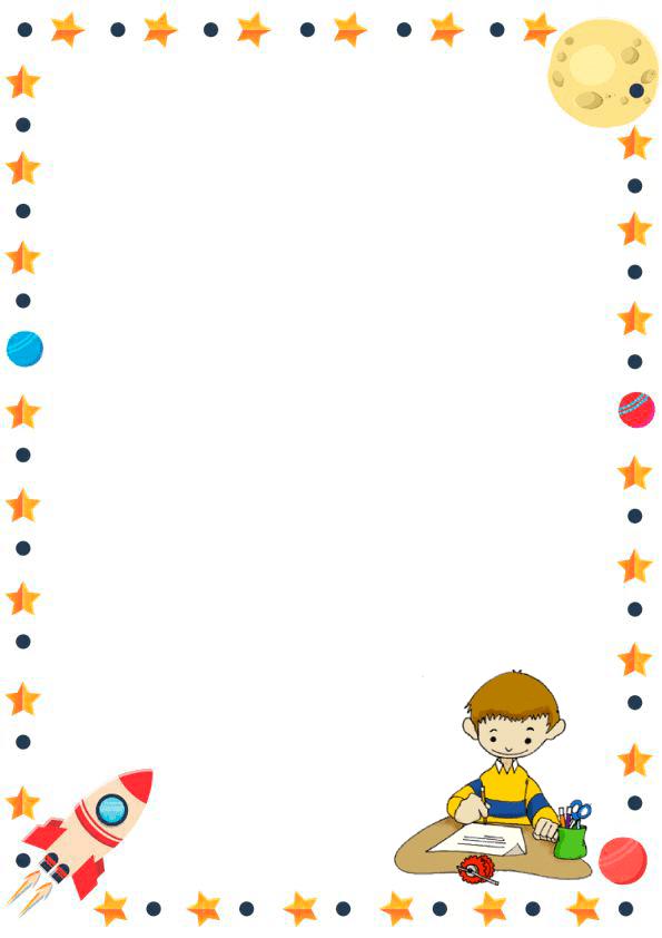 Caratulas de cuadernos para niños y  niñas de inicial de astronauta