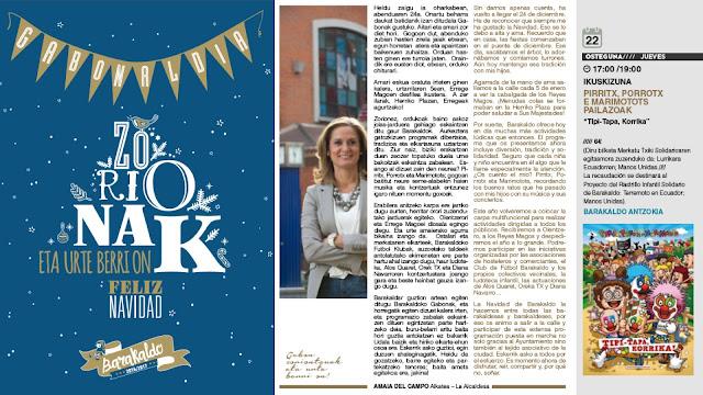 Folleto de la campaña navideña del Ayuntamiento
