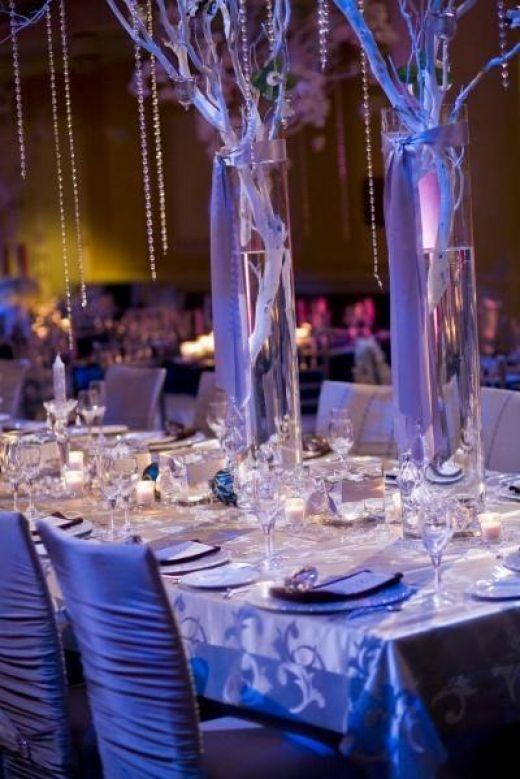 Winter Wonderland Wedding Centerpieces