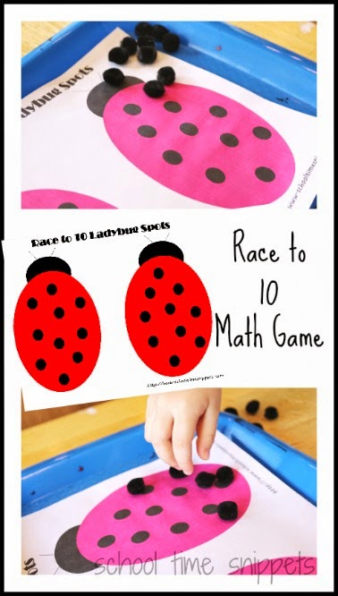Ladybug Printable - Roll and Cover Game