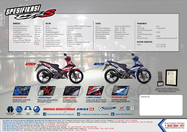 Harga Rasmi Dan Brochure Modenas CT115S 2015