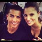Lucia Villalan with Cristiano Ronaldo