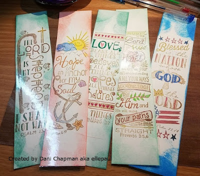 ODBD Bible Journaling Stamps: My Shepherd, The Anchor, All Things, My Refuge, The Nation, Bookmarks created by Dani Chapman aka ellepaul