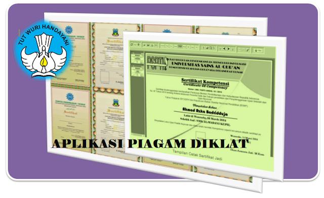 Aplikasi Pembuatan Sertifikat Diklat dan Piagam Penghargaan