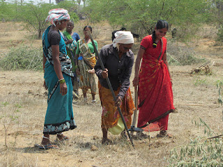 Women restore degraded land in southern India under a government-funded program. (Credit: Stella Paul/IPS) Click to Enlarge.