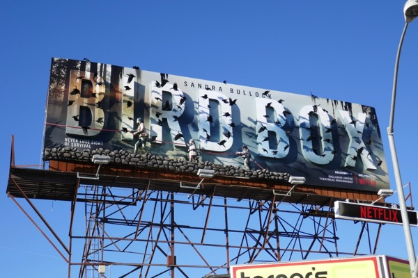 Bird Box movie 3D billboard installation