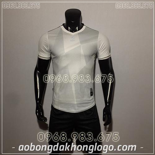 Áo Bóng Đá Ko Logo Egan CaC màu xanh trắng