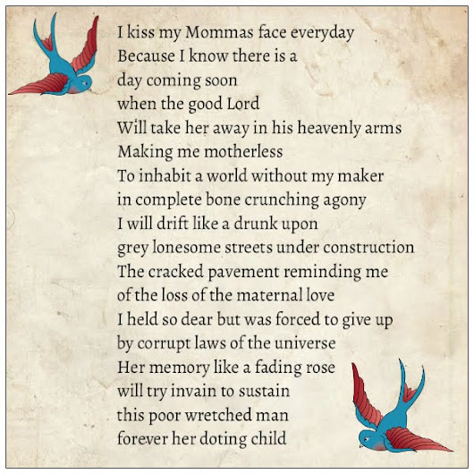 A Poem for my Mother - 'Drunk with Grief""