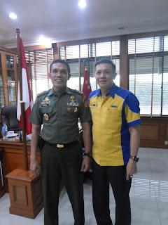 Sofian Tjandra bersama KABABINKUM Mayjen TNI Markoni