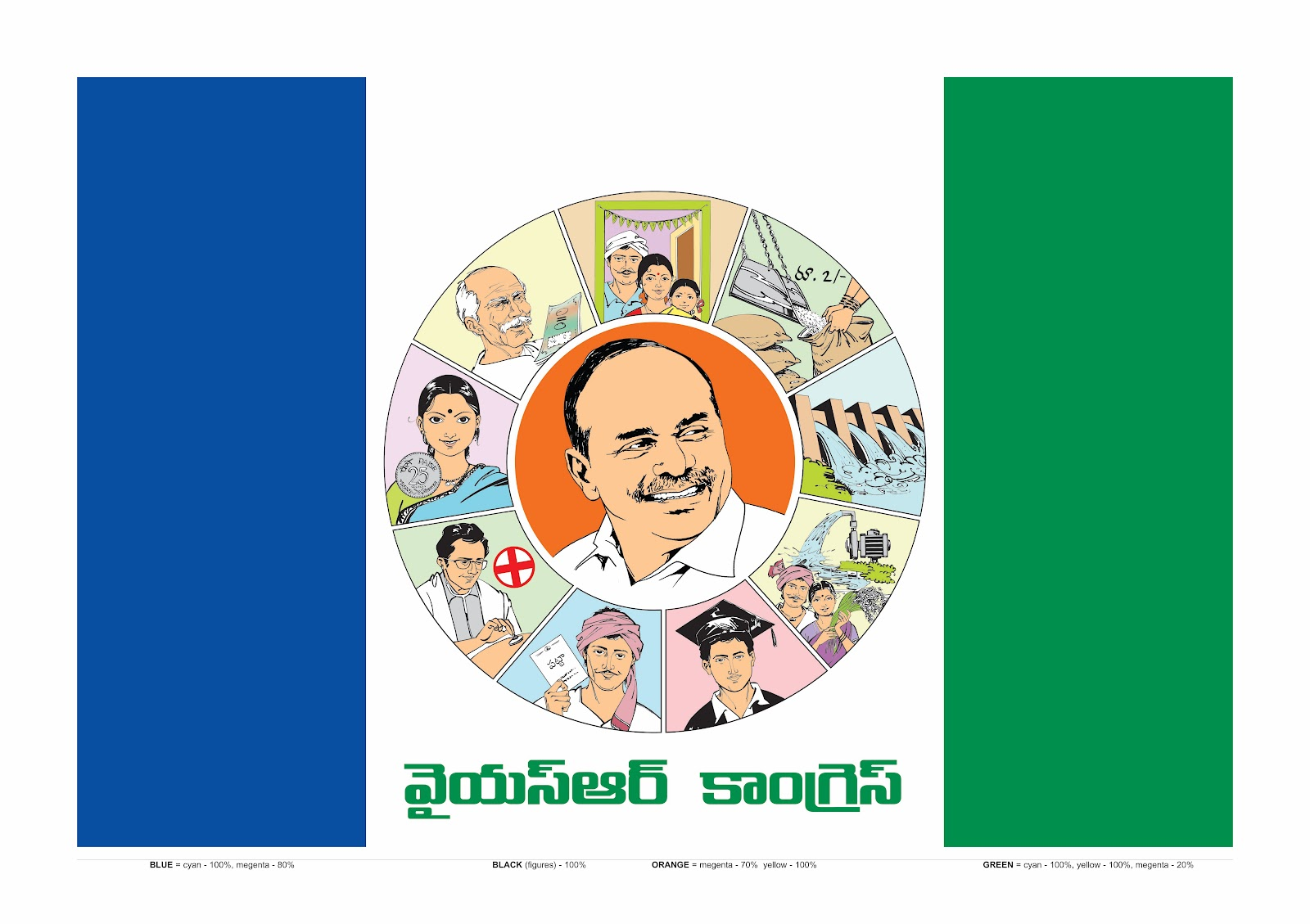 i am for jagan: Flag & Logo