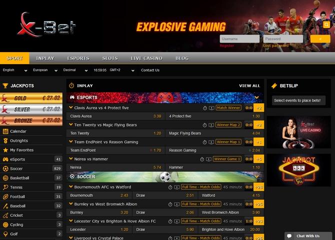 X-bet Screen