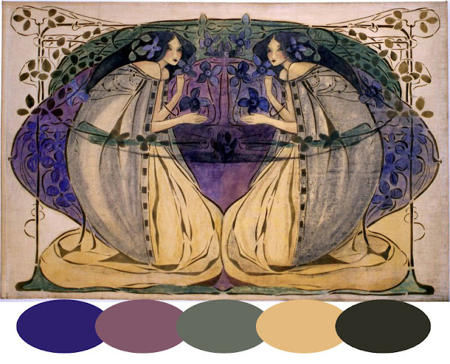 Title of watercolor:  Spring  By: Frances MacDonald
