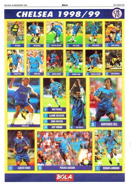 SQUAD TIM CHELSEA 1998/99