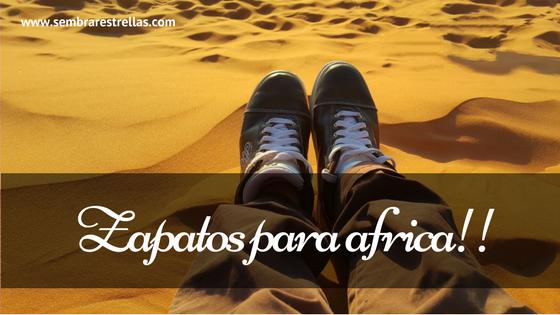 Zapatos para africa, iniciativas solidarias, proyecto zapatos para africa