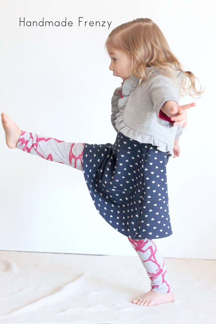 Sewing Patterns:Ruffle Bolero, Norah Dress, Fancy Pants Leggings